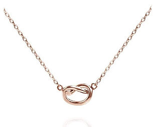 14K Gold Plated Infinity Necklace For Women