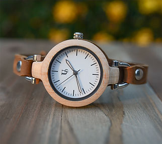 womens wooden watches-geniune leather band-wooden watch women.jpg