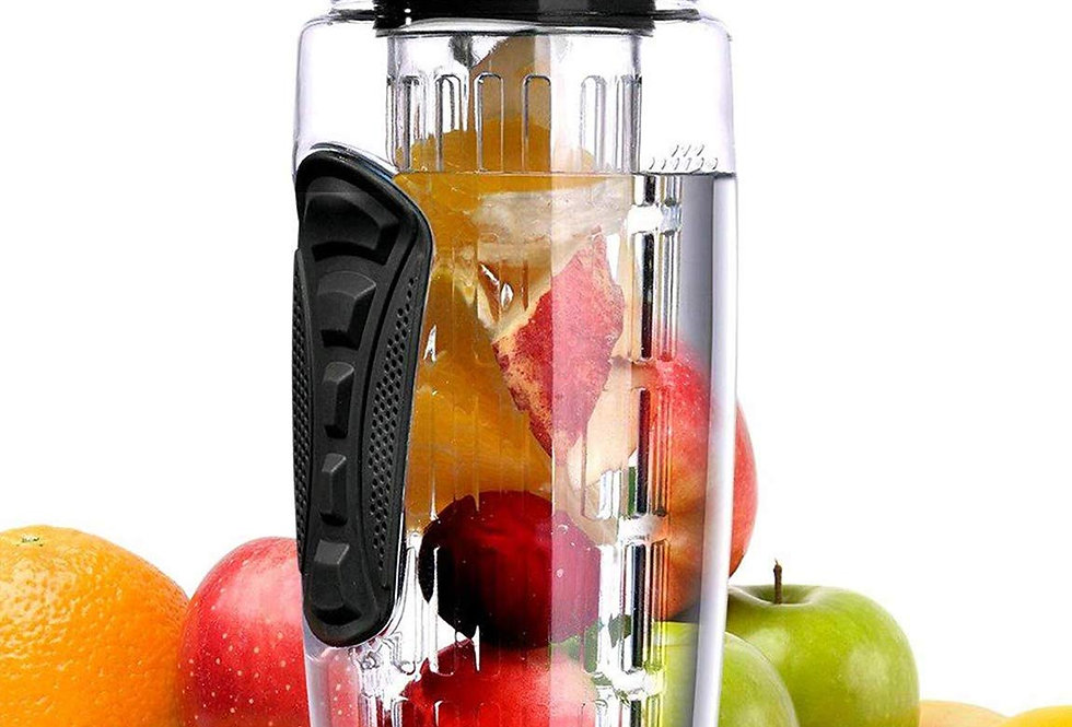 32 OZ Sport Fruit Infuser Water Bottle-Flip Top Lid & BPA Free Infuser