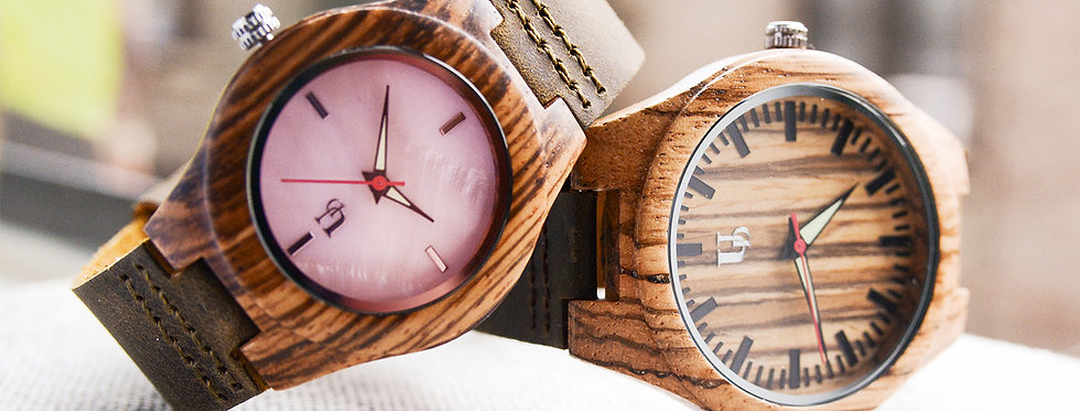 UD Personalized/Engraved His and Her Wooden Watches