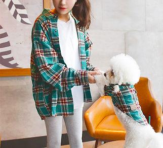 Furry Besties Matching Breathable Plaid Cotton Shirts.jpg