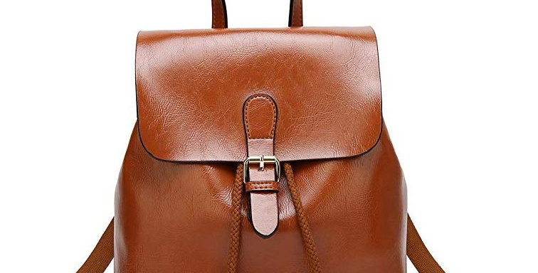 Women's Anti-theft Backpack Bag Brown