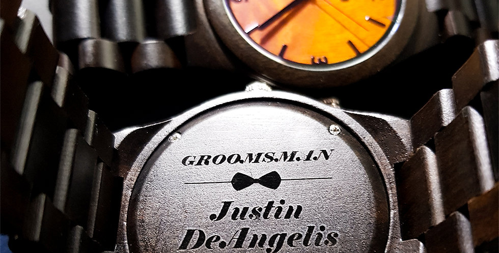 Unique Groomsmen Watches- Engraved  Groomsmen Wooden Watches