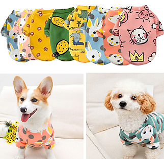 Cartoon Print Cute Pet Clothes for Small Dogs.jpg