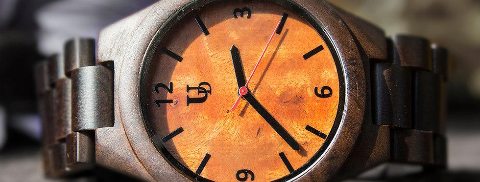 UD Personalized/Engraved Dark Round Wooden Watch