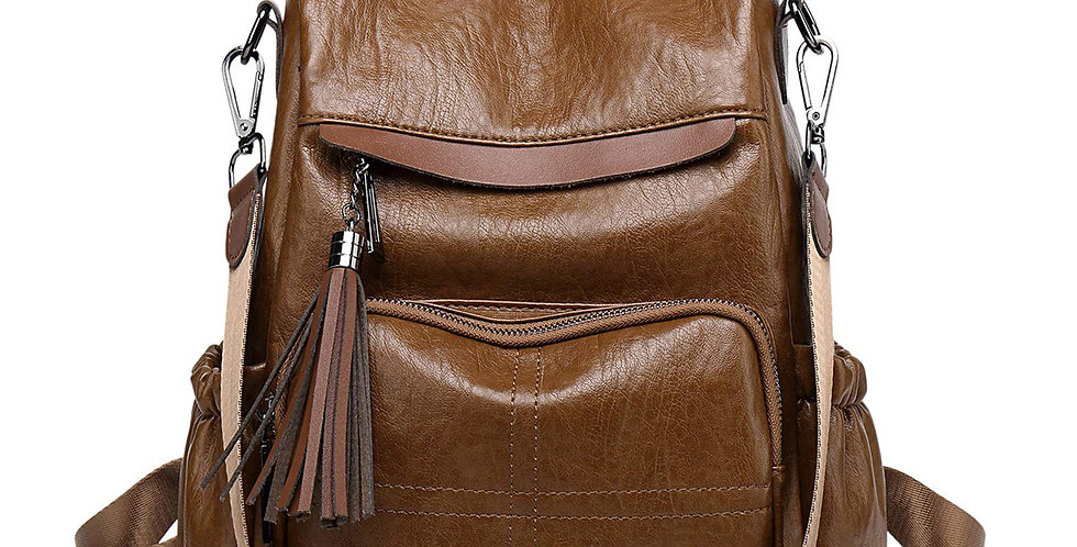 Women Fashion PU Leather Antitheft Casual Backpack