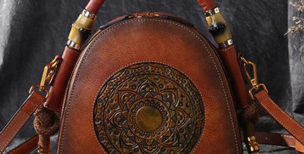 Ladies Handmade Premium Leather Retro Elegant Shoulder Messenger Bag