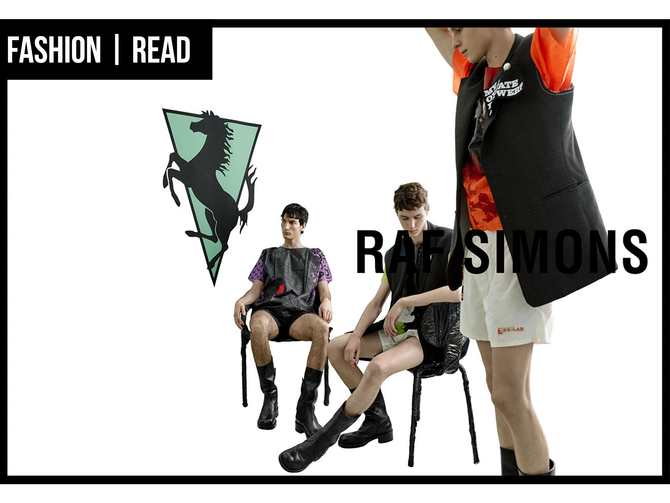 FASHION: RAF SIMONS SPRING-SUMMER'20 CAMPAIGN; FROM THE RUNWAY TO THE WORLD