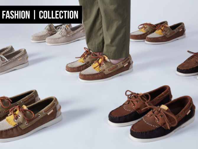 SEBAGO X UNIVERSAL WORKS; A TEXTURAL TREAT FOR THE FEET!