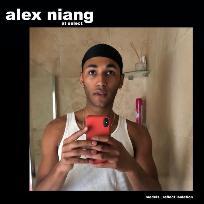 MODELS REFLECT ISOLATION: ALEX NIANG