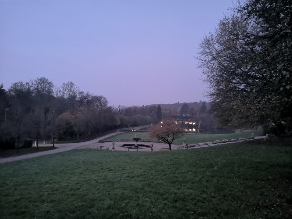 Baroque Garten Teich Früh