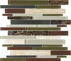 Deep Grotto Glass Stone Stainless