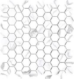 Mayfair Statuario Hex Mosaics