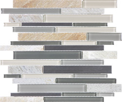 Fossil Rock Glass Stone Stainless