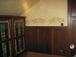 орнаментальная роспись в кабинете