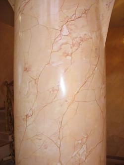 роспись колонны, имитация камня