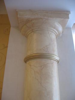 роспись и золочение колонны