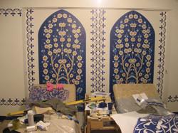 трафаретная роспись  в хамаме