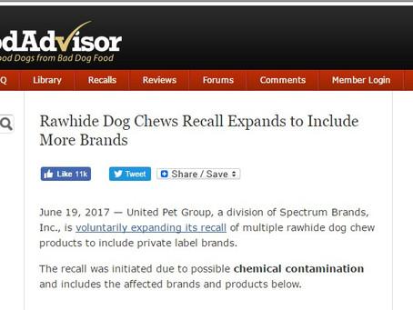 Beware Certain Dog Treats
