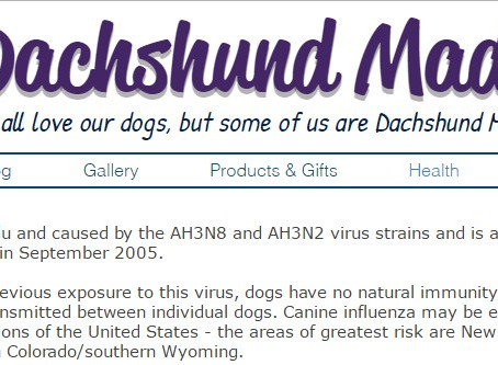 Important update to our Health section - Canine Influenza