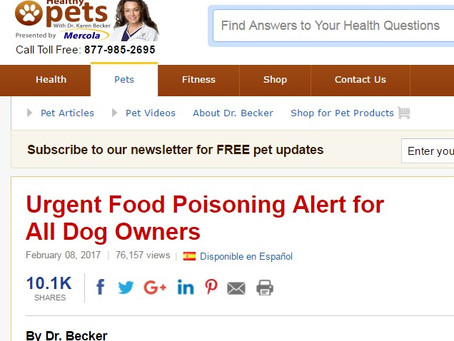 Poisoned Dogs - one ingredient that causes havoc is found in many Peanut Butters and other food prod