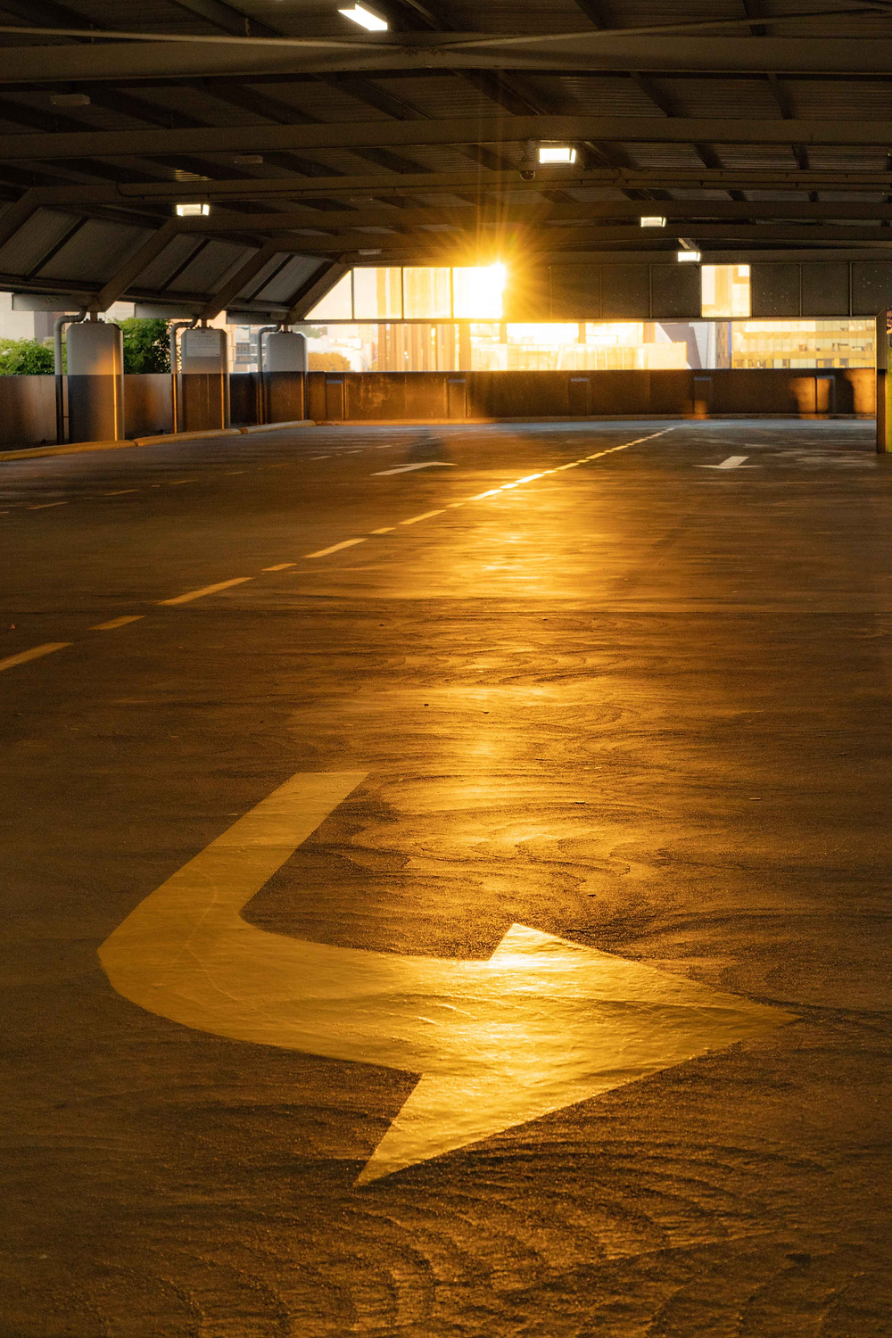An empty parking lot in the Perth CBD - Photo credits - Harry Cunningham