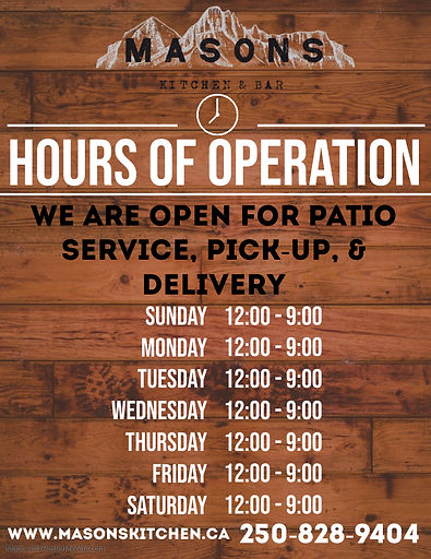 Copy of Business hours wooden flyer info