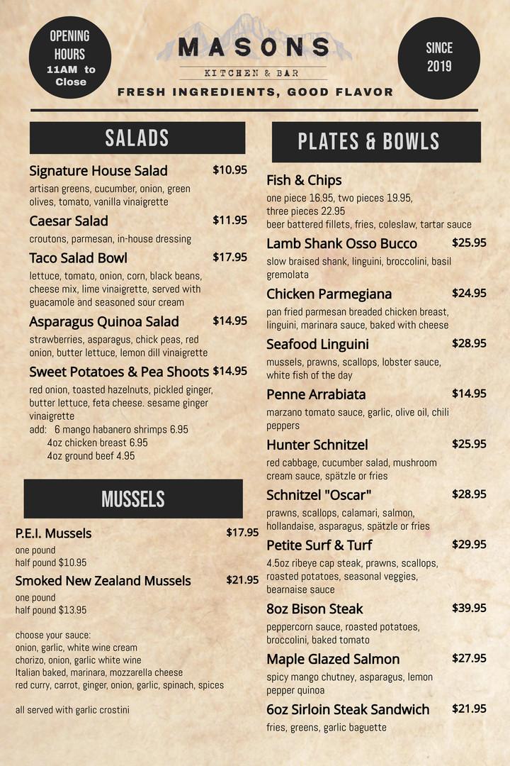 Copy of Copy of simple restaurant menu p