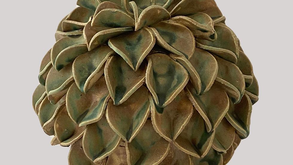 Töpferanleitung Blätterkugel
