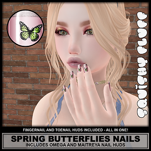 Squishy Fluff - Spring Butterfly Nails A
