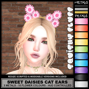 Squishy Fluff - Sweet Daisies Cat Ears A