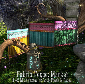 Paper Mooon - Fabric_Fence_Market_poster