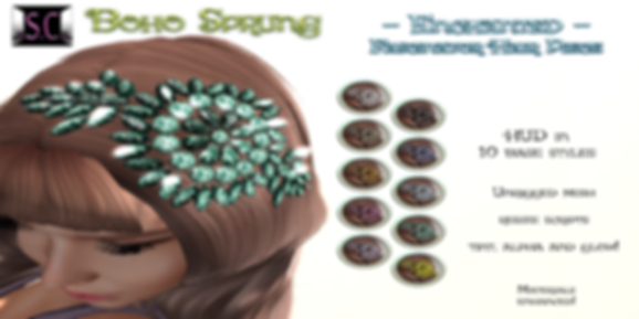 Boho Sprung - Enchanted - Fascinator AD.