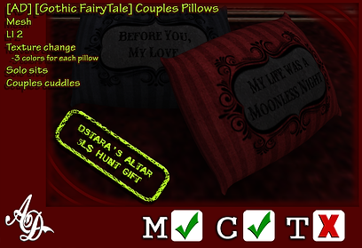 [AD] [Gothic FairyTale] Couples Pillows