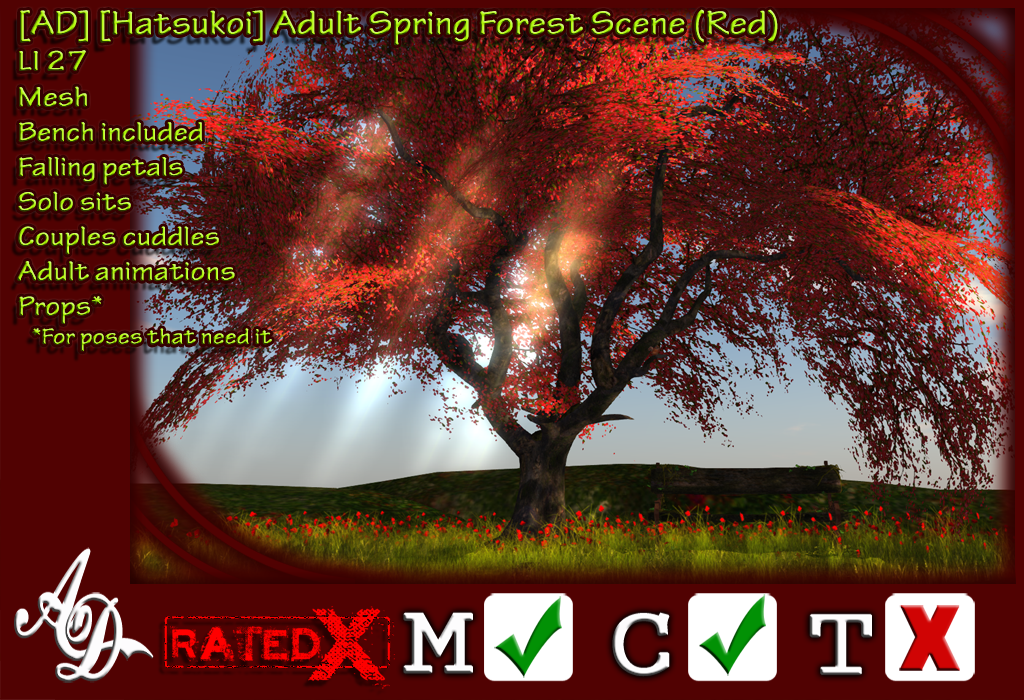 [AD] [Hatsukoi] Adult Spring Forest Scene (Red) Promo