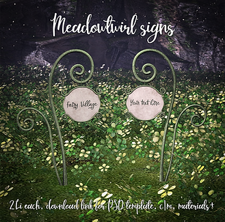 {Raindale - Meadotwirl signs (hunt gift)