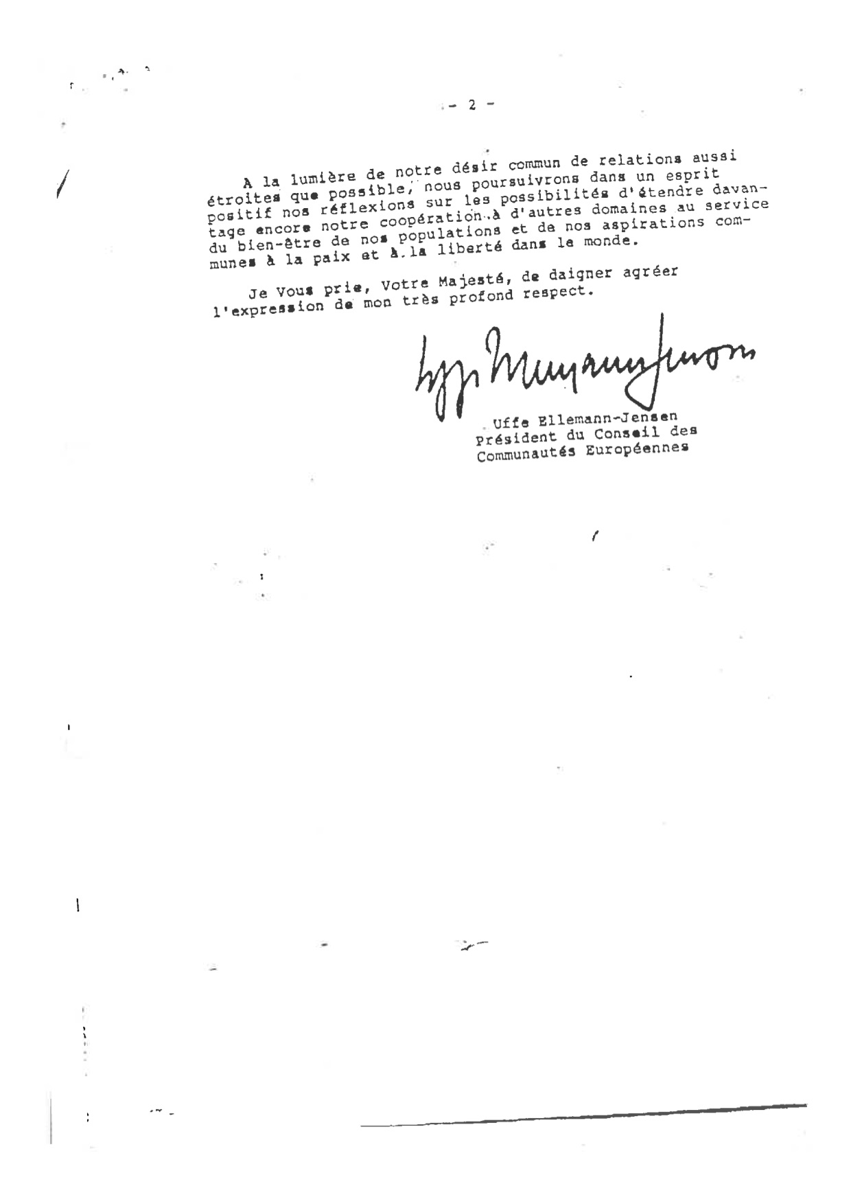 Reponse du President du Conseil Hassan II lettre du 01.10.1987 bis