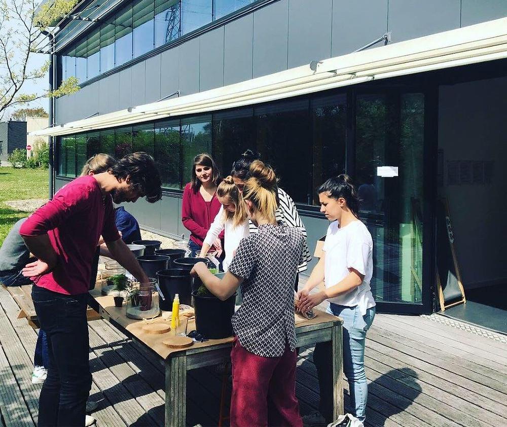 Atelier terrarium chez Smile Coworking