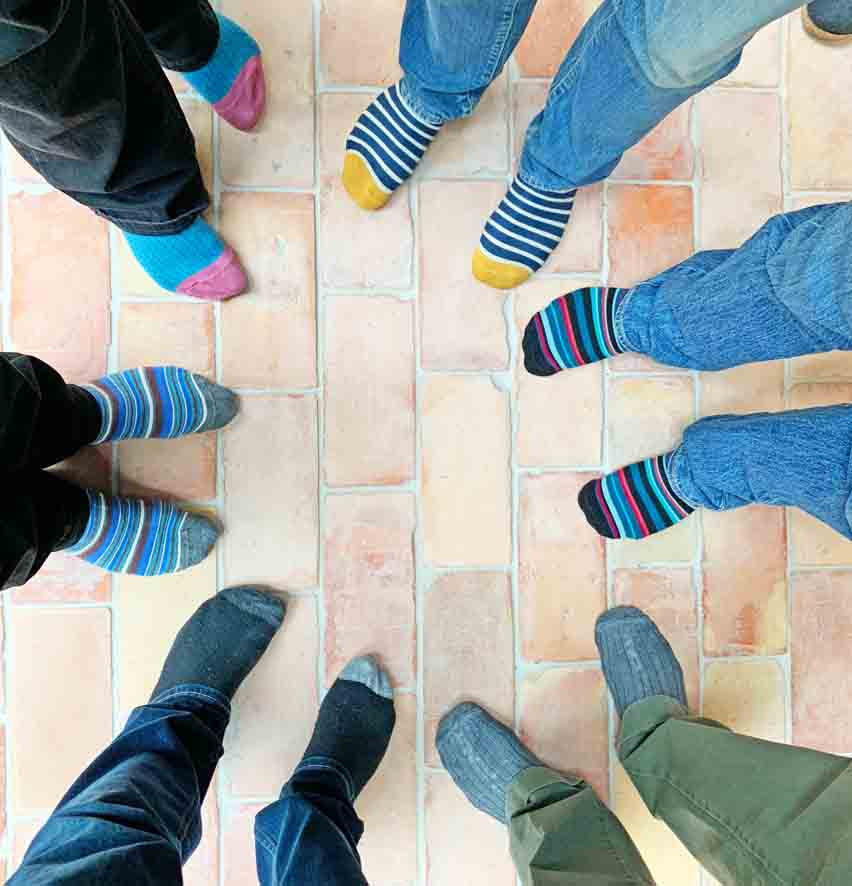Walled Garden Farringdon (Para 79/55), Design Review Panel Post completion Site Visit - Colourful Socks!
