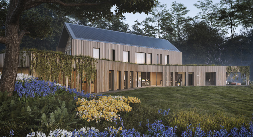The Autarkic House - an Innovative para 79 house approved in Devon following engagement with The Design Review Panel  - CGI's have been produced by studionesh
