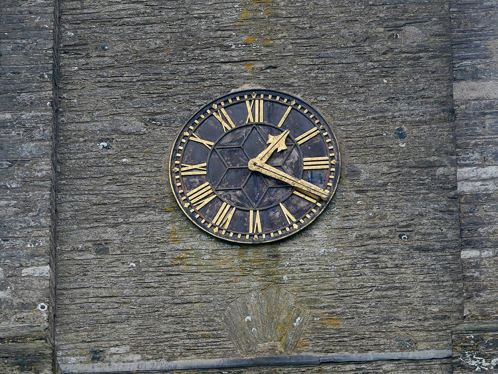 Clock face before restoration