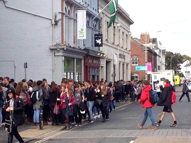 Pedestrians on Queen Street Exeter