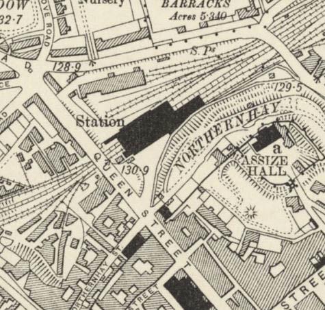 Historic Map of Queen Street Exeter
