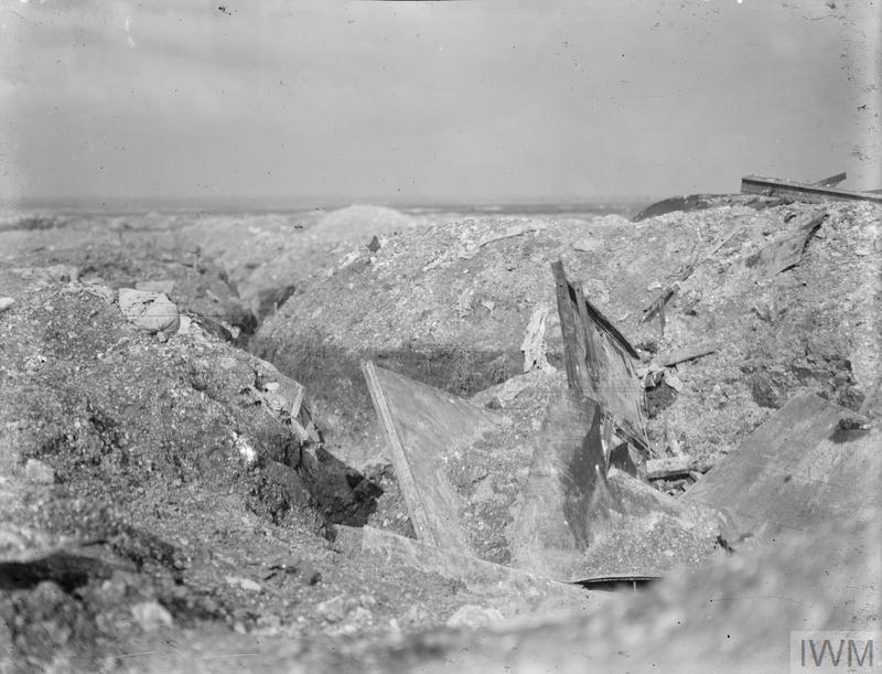 German trench with machine gun emplacement