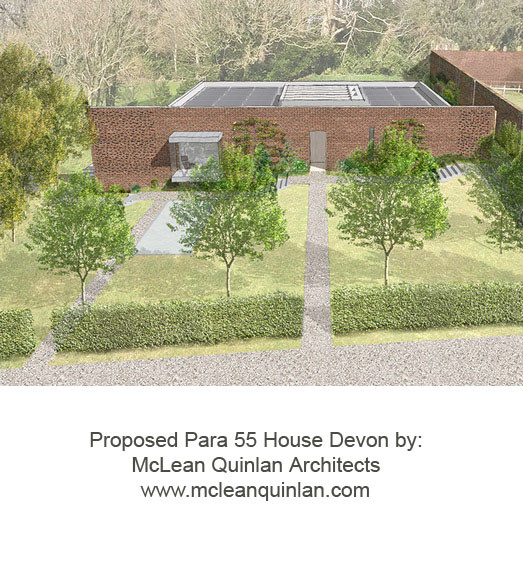 Proposed Para 55 House in Devon by McLean Quinlan Architects