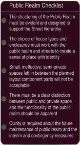 The importance of the quality of the public realm in new housing development