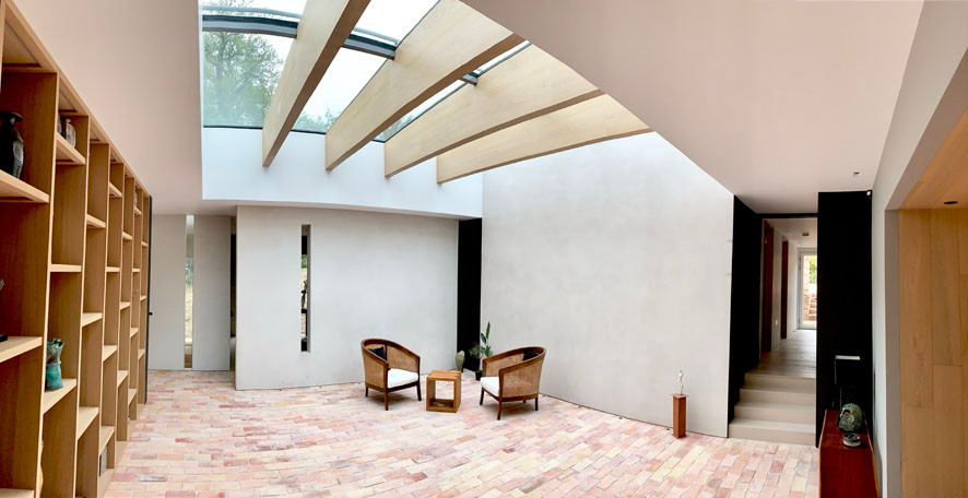 Walled Garden Farringdon (Para 79/55), Design Review Panel Post completion Site Visit - Internal courtyard / entrance hall