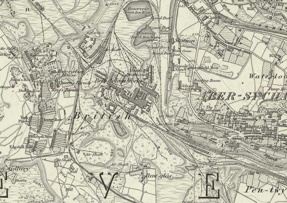 1886_Monmouthshire XVIII (includes/ Abersychan; Goetre Fawr) 1886 map of 'The British, showing the scale of the operation - design review panel blog article image