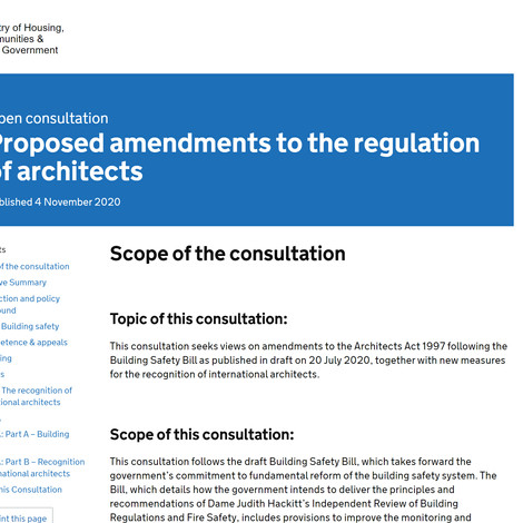 Architects Act Monitoring of Competency Consultation