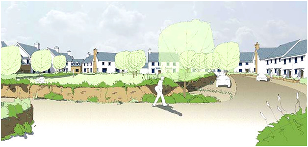 Early sketch vision for a village development by Urban Design Box